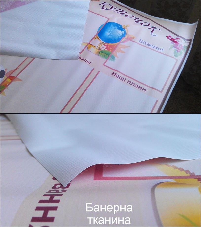 Стенди для класу на банерній тканині.