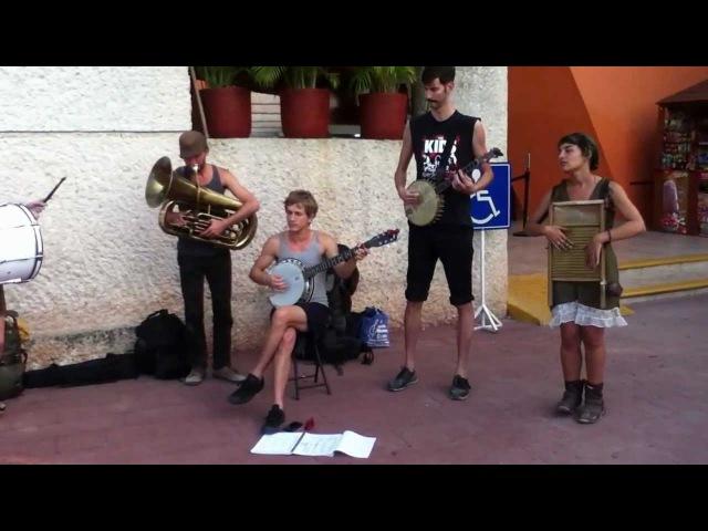 Tuba Skinny ragtime band at Chichen Itza