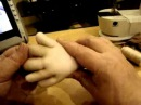 Мастер класс по созданию каркасной куклы Дашенька в скульптурно текстильной чулочной технике ч 7