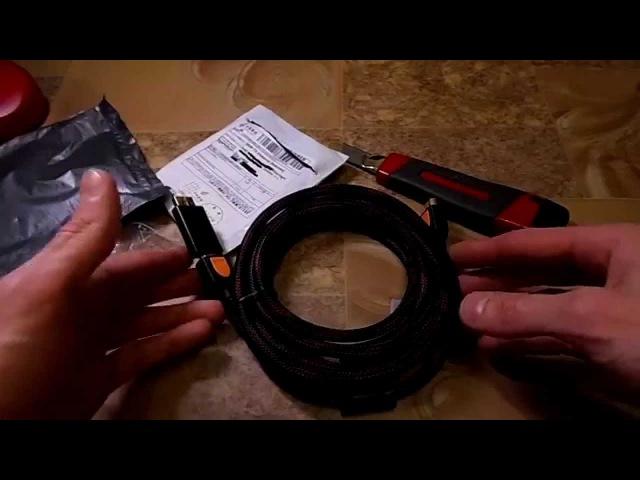 HDMI кабель и переходник HDMI DisplayPort с Алиэкспресс Распаковка