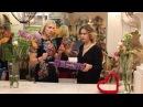 Букет сердце с розами и гвоздиками, мастер-класс от флористов студии цветов Slava Rosca