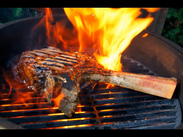 Monster Tomahawk Steak Flame Grilled to Perfection - How To CowBoy Steak - Pitmaster X