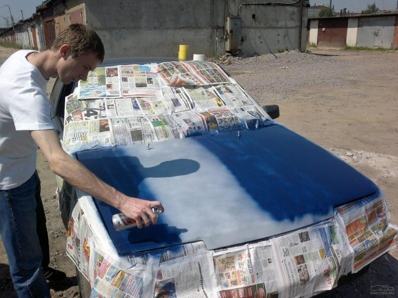 Покраска капота из баллончика своими руками видео