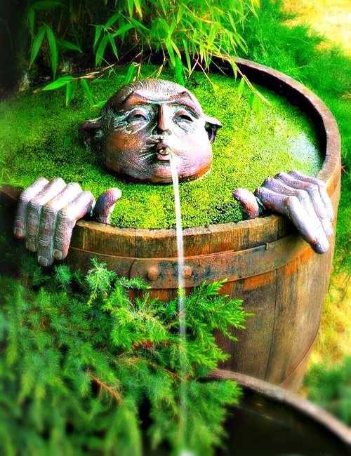 Оформление мини-пруда в саду
