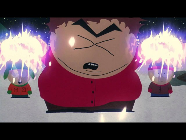 Cartman epic lightning bolt shooting cuss scene Bigger Longer Uncut