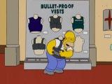 Гомер тестирует броник