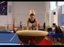 Спортивная гимнастика (gymnastics) - опорный прыжок.