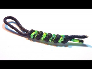 How to make / tie a 2 / two color Snake knot paracord lanyard ( Tutorial , easy and simple )