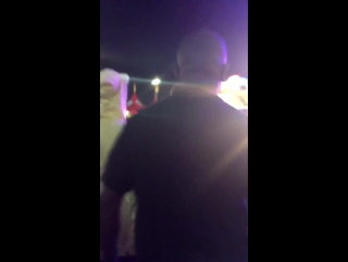 August 14: fan taken video of Justin at the Orange County Fair in Costa Mesa, California.