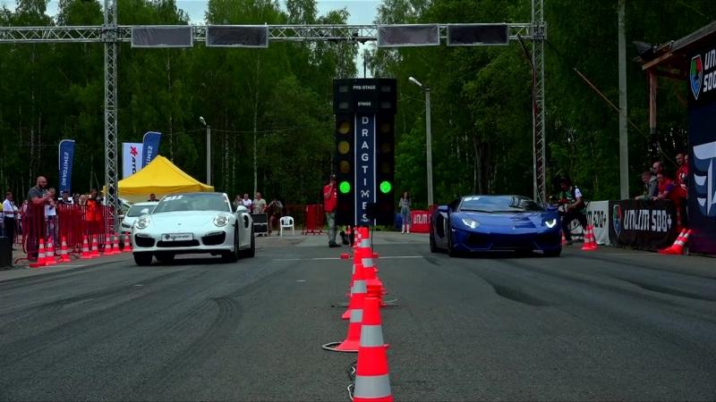 Porsche 911 Turbo vs Lamborghini Aventador vs Mercedes C63 AMG | Unlim 500,заезд,drag racing,тачка,машина,автомобиль,суперкар