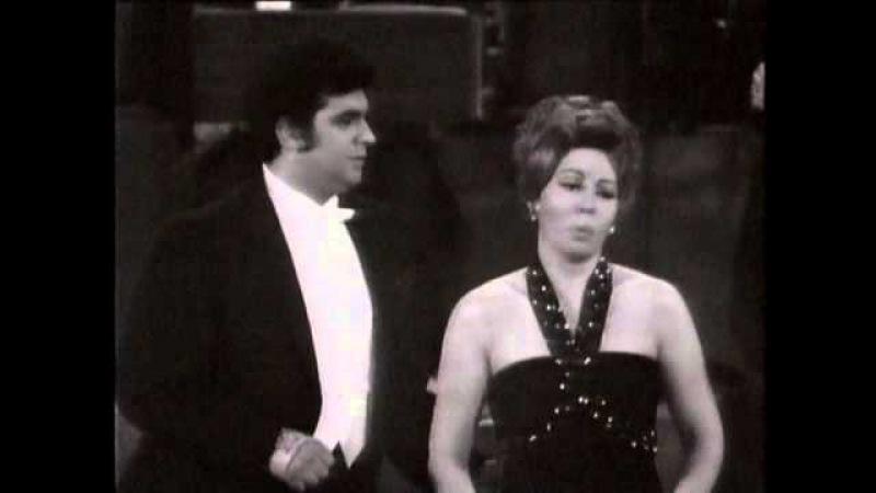 Placido Domingo und Maria Chiara 1970