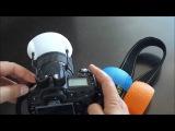 Рассеиватель, диффузор для встроенных вспышек - комплект из 3-х цветов
