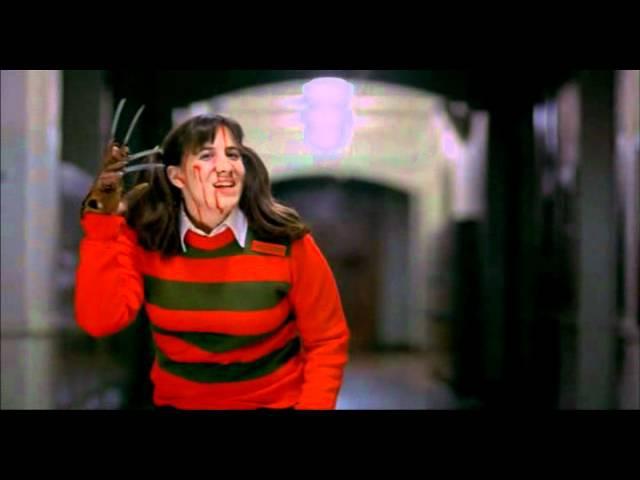 Nancy's school dream scene from the movie