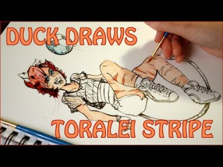 DUCK DRAWS - Toralei Stripe from Monster High