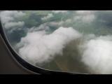 Посадка В-747 Трансаэро в Домодедово