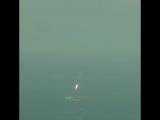 Приземление 1й ступени falcon-9 spaceX на платформу в атл. океане 14.04.15
