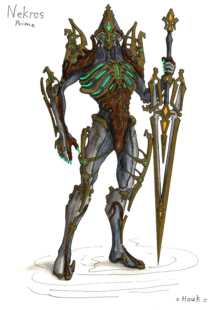 Nekros Prime With Galatine Prime - Fan Concepts - Warframe