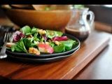 Apple, Cherry and Candied Walnut Salad + Cherry Balsamic Vinaigrette