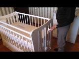 Сборка кронштейна для детской кроватки