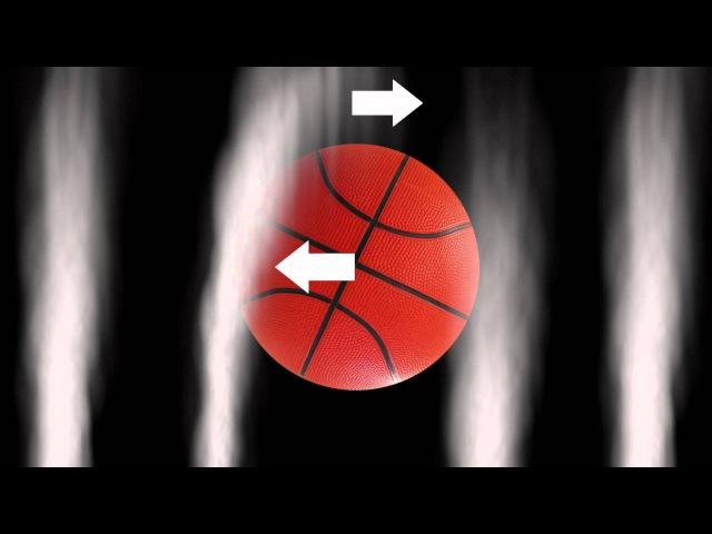 Backspin Basketball Flies Off Dam