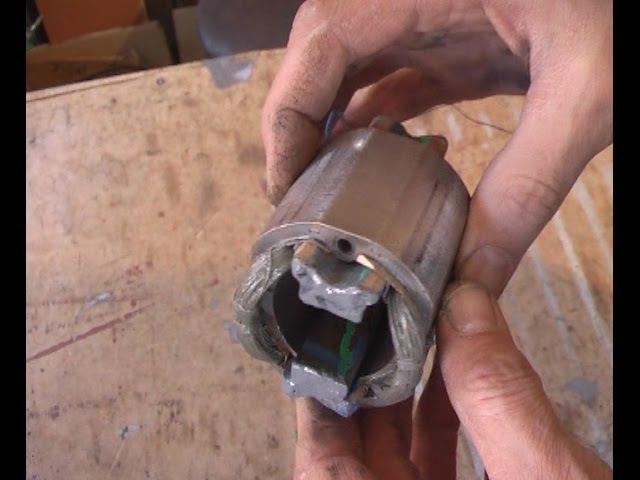 Пропитка статора. Намотка в два провода с параллельным соединением.