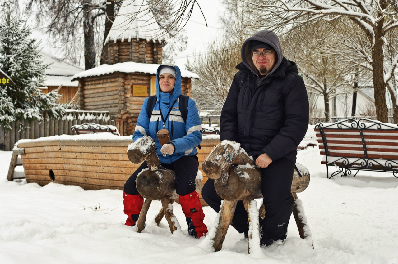 В парке Пермского периода в Очере