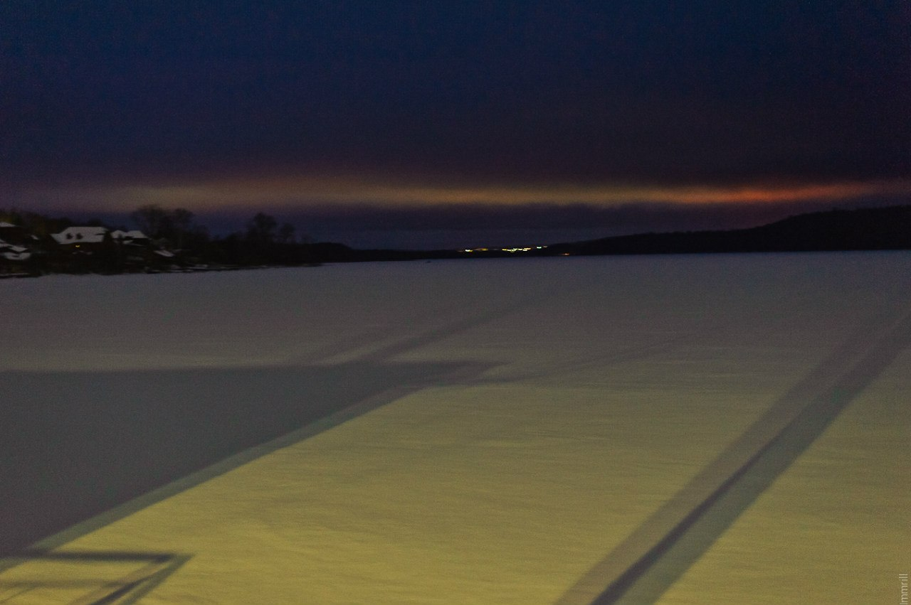 Закат на Павловском пруду