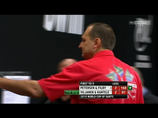 South Africa vs Finland (PDC World Cup of Darts 2015 / First Round)