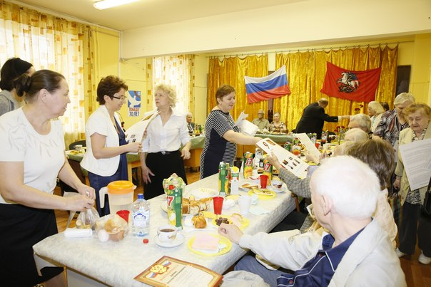Вручение подарков ветеранам