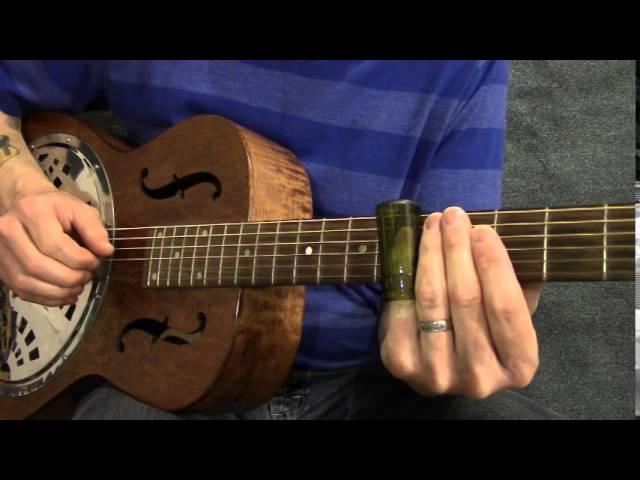 Slide guitar blues solo in open G tuning - SL001