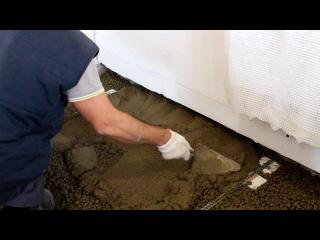 Водяной теплый пол своими руками. Часть 1. Черновой пол из керамзита