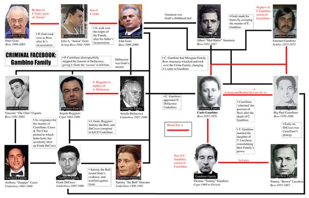 the gambino crime family This category is for every member of the gambino crime family.