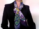How to wear scarves - Hermes scarf in a criss-cross bow knot
