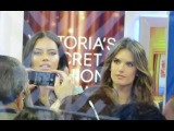Adriana Lima and Alessandra Ambrosio promoting Victoria Secret 2014 Fashion Show in London on GMA