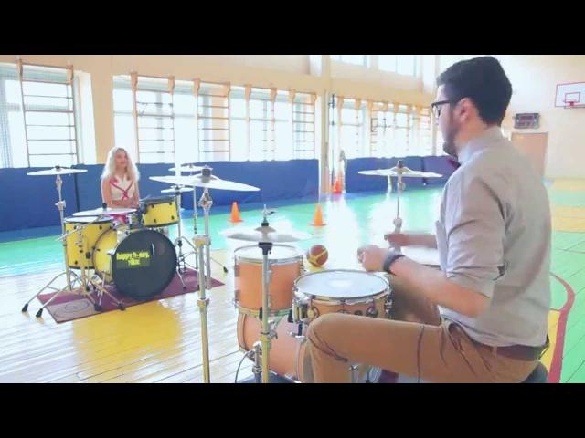 Aqua - Barbie girl (drum cover by Виктория Ткаченко и Андрей Самурайс)