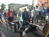 Жим штанги лежа 75 кг. Елисеев Виктор. Занял второе место.