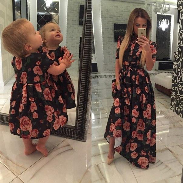 Фото платья для мамы и дочки