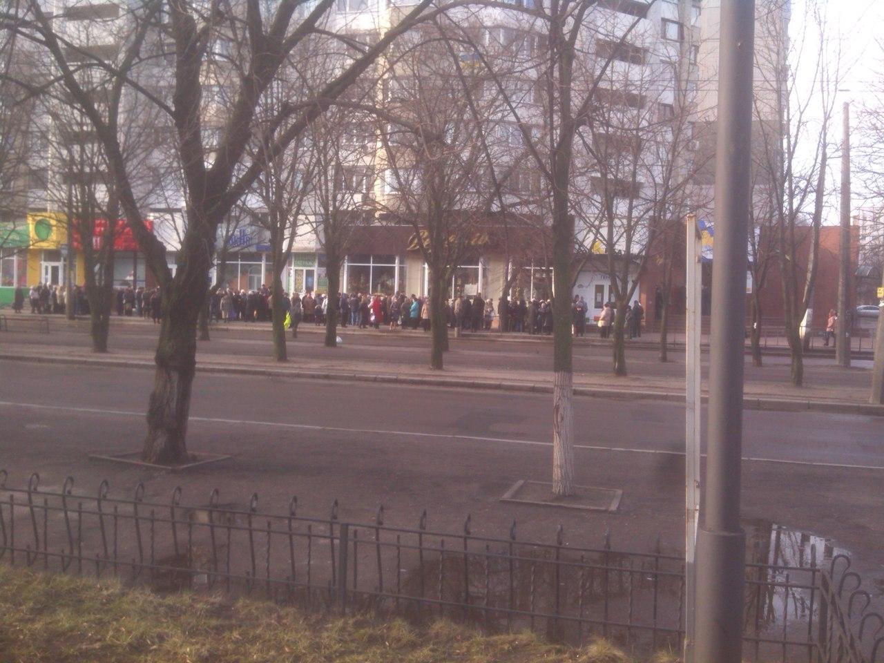 Километровая очередь в Черкассах(фото), фото-2