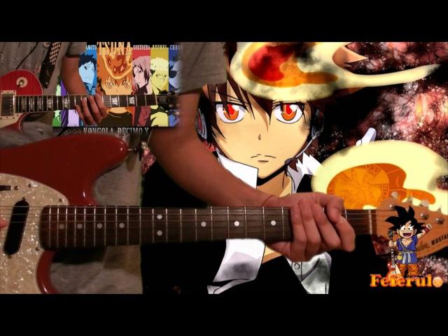 Guitar Cover || LISTEN TO THE STEREO!! - Katekyō Hitman Reborn! (Tabs Backing Track!)
