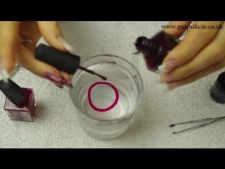 Дизайн ногтей водный маникюр в домашних условиях Как сделать водный маникюр
