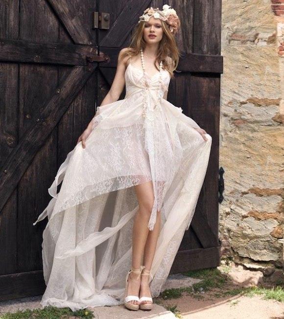 короткое платье невесты