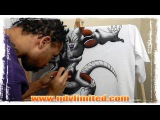 LIVE AIRBURSHING: TIPS & TECHNIQUES!! MECHA FRIEZA (DRAGON BALL Z)