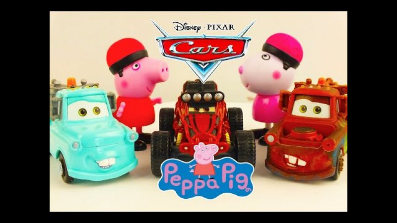 New Cars Disney Pixar Cars Peppa Pig meet new friends peppa pig Masha i Medved Paw Patrol Toys Usa