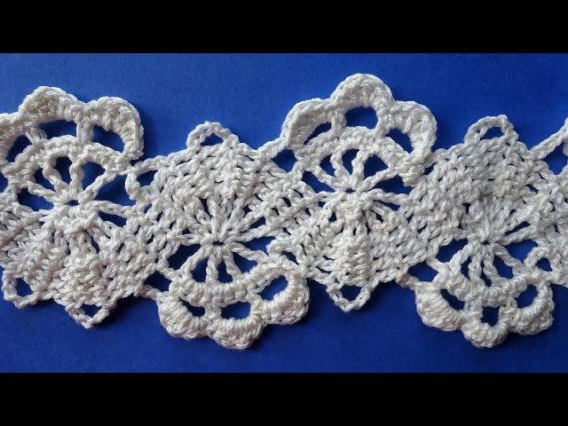 How to Crochet Bruges Lace Tape Брюггское кружево крючком схемы вязания Вязание крючком 352