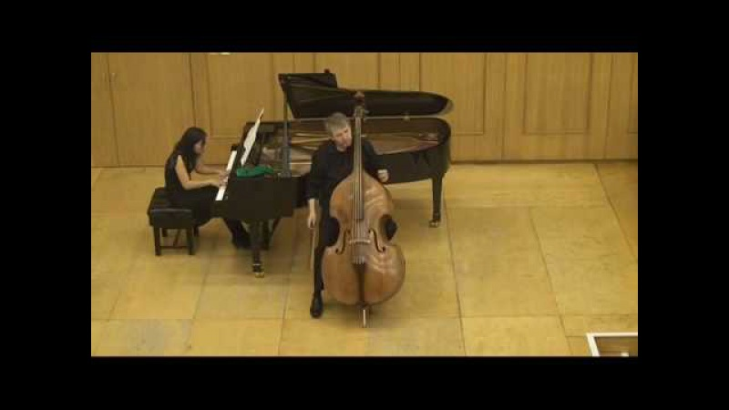Hindemith Sonata for d bass and piano 1st and 2nd movement played by Rinat Ibragimov
