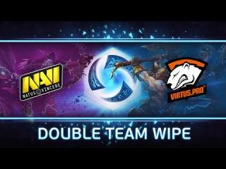 Na`Vi vs VirtusPro: Double Team Wipe @ Europe Open #2