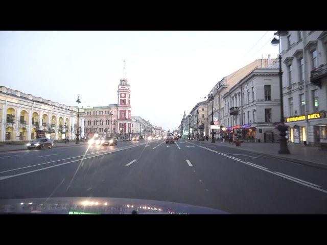 Белые ночи 2012 - по Питеру на автомобиле. Видео и музыка - Александр Травин. Санкт-П...