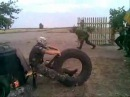 Армейский прикол - мотоцикл