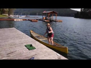 Naked guy tackles drunk Canadian out of Canoe (How's The Fishing? - Original)