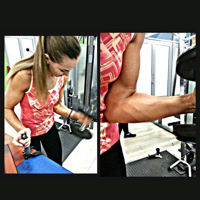 Ekaterina Nikisheva - Forearm, Dumbbell Workout │ Image Source: Katerina Nikisheva